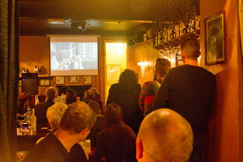 Fans of Peaky Blinders watch the show at The Spotted Dog