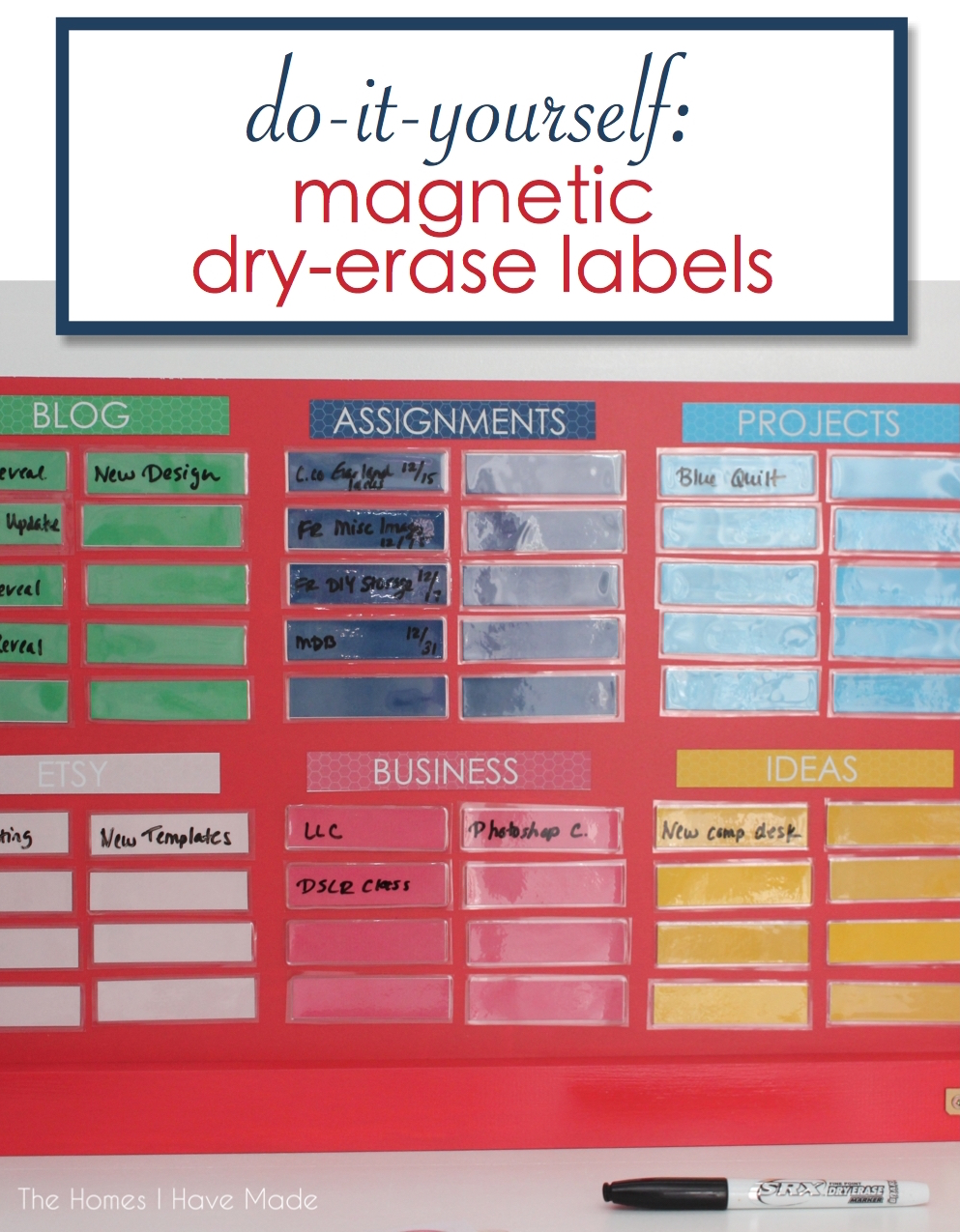 e8d66a45215 Magnetic Task Board - Part II  How to Make Magnetic Dry-Erase Labels ...