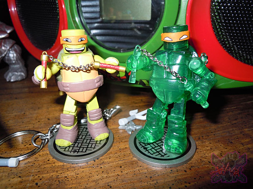 Nickelodeon  TEENAGE MUTANT NINJA TURTLES ; MINIMATES :: MUTAGEN MICHELANGELO xii / ..with Basic M.M. Michelangelo '14 (( 2014 ))