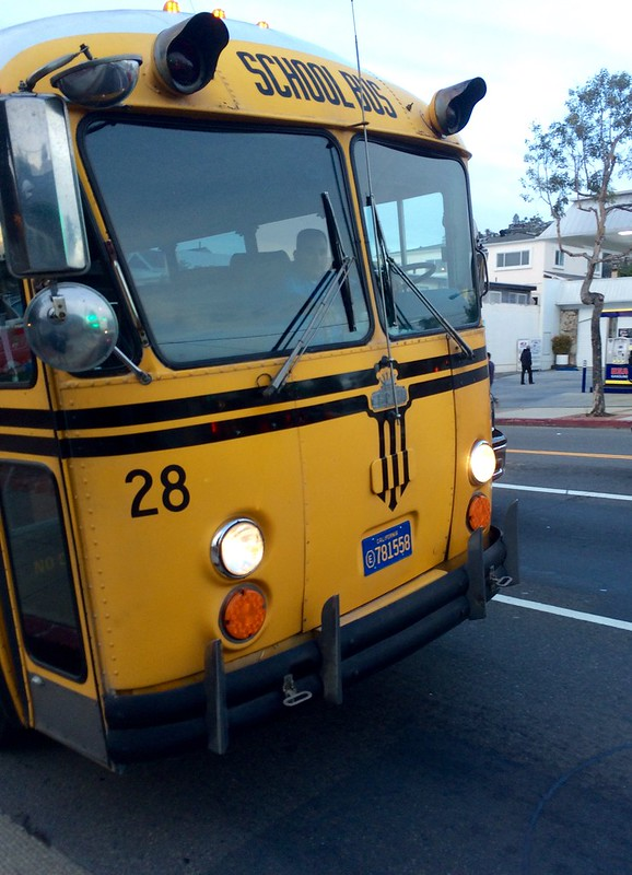 Old time school bus