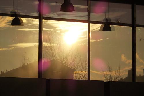 Il tramonto dentro e fuori