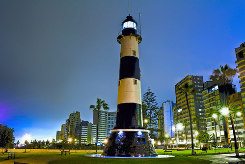 city urban lighthouse building peru southamerica downtown realestate lima property highrise miraflores condominium commerical farolamarina