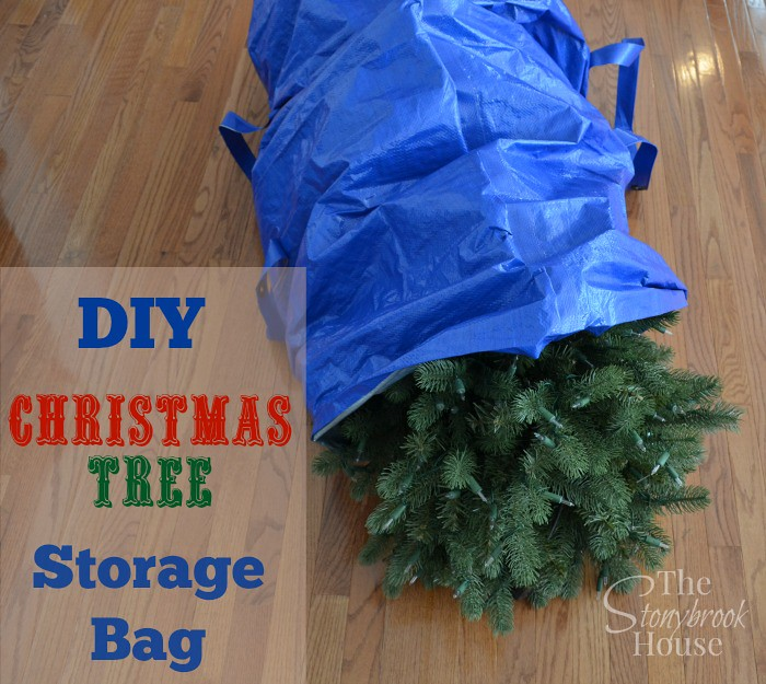& How To Make A Christmas Tree Storage Bag - The Stonybrook House
