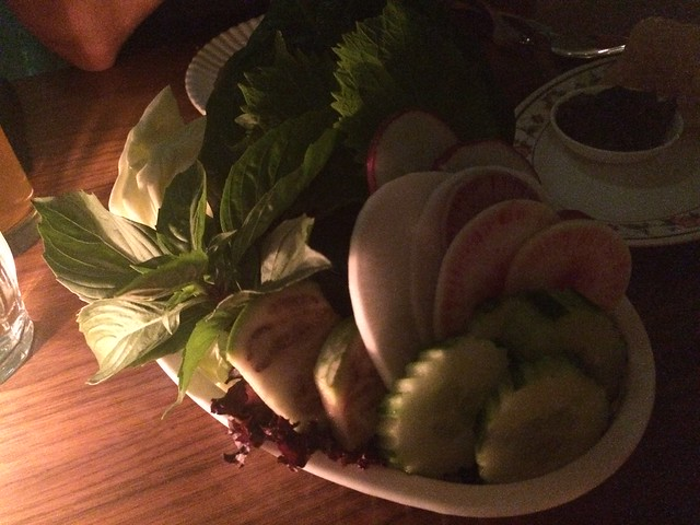 Assorted leaves and vegetables - Little Serow