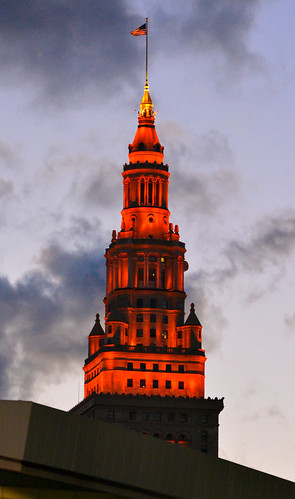 sunset ohio cleveland clevelandoh terminaltower