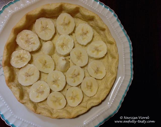 tarta cu banane si ciocolata