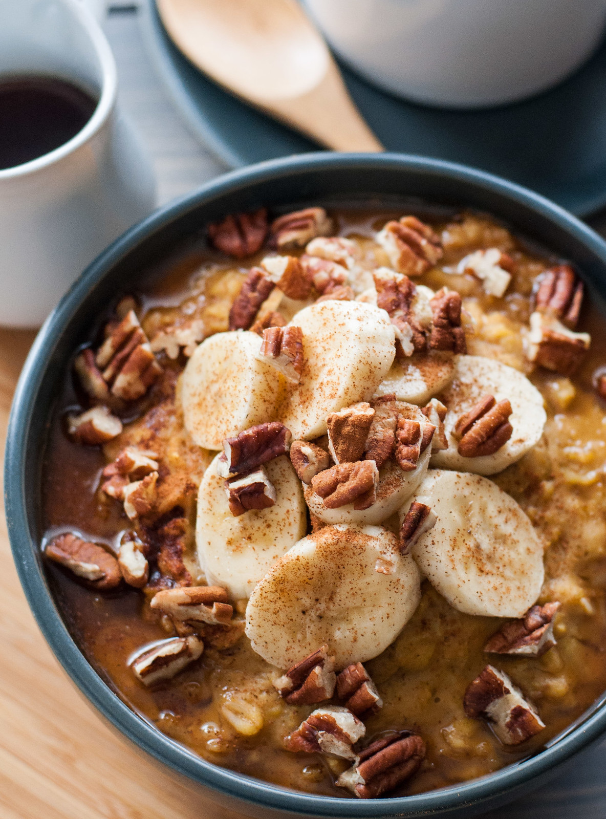 Easy maple pumpkin oatmeal with sun butter | Natural Comfort Kitchen ...