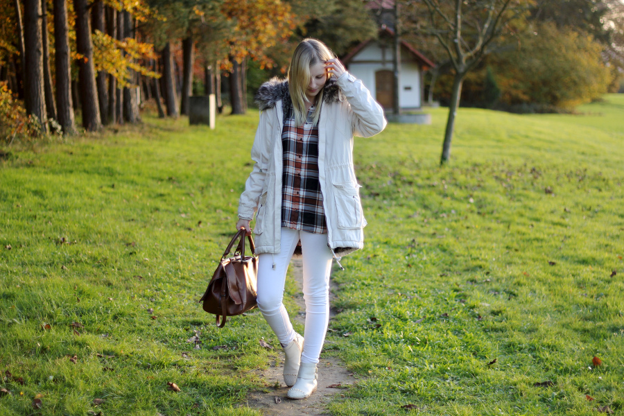 outfit-white-beige-french-connection-parka-river-island
