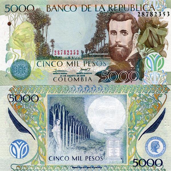 5000 Pesos Kolumbia 2001-2009, Pick 452