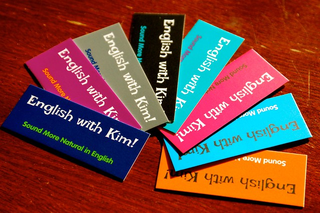 English with Kim Business Cards
