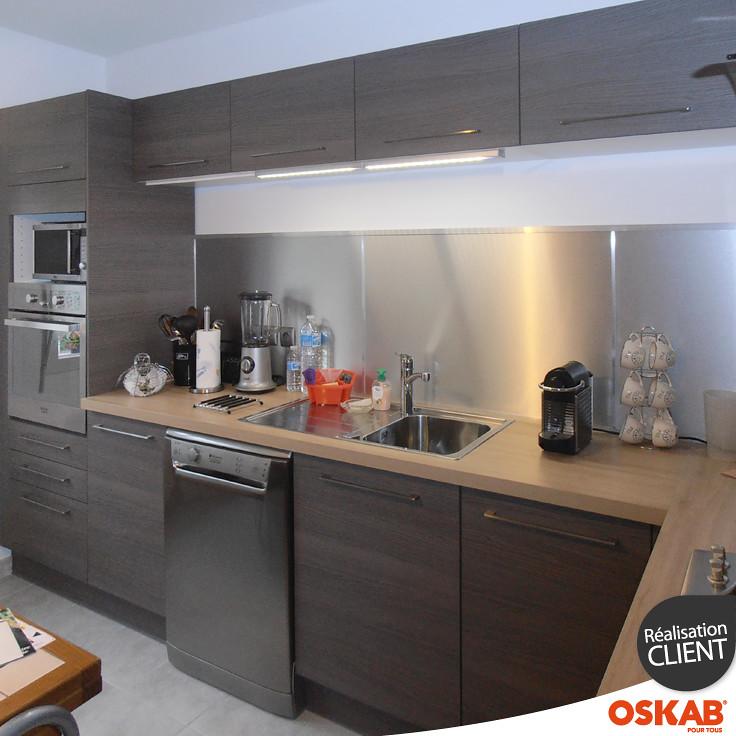 Avis photos oskab nicole l cuisine équipée bois modèle stilo