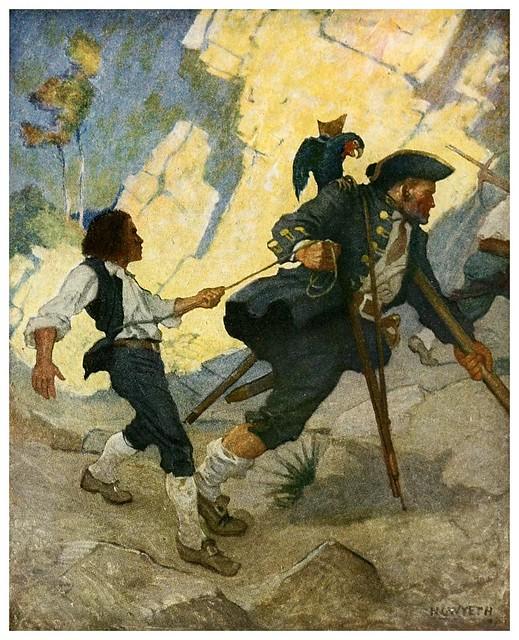 007-Treasure Island -1911-ilustrada por NC Wyeth