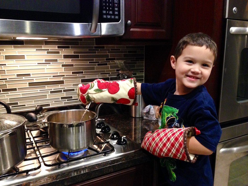 Cooking for mommy