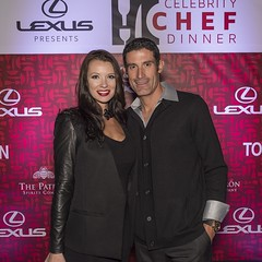 George and Melanie Hincapie at the VIP dinner and Red Carpet Event of the Celebrity Chef Dinner
