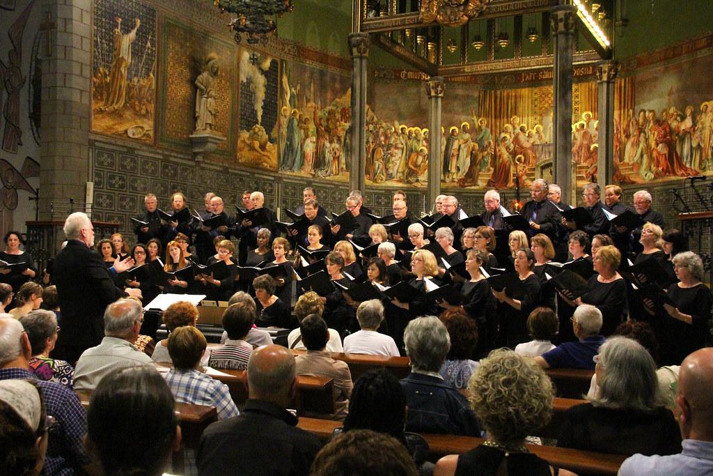Plano Civic Chorus performs in the Esglesia Santa Maria in Blanes, Spain