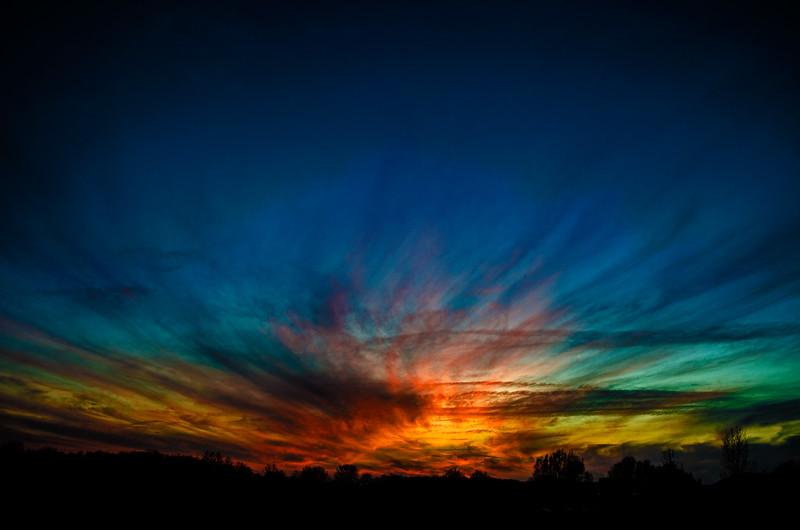 Sunset, December 21, 2014