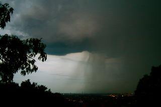 Rain over Sandton