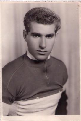 Tonoli Gaudenzio con la maglia di campione Italiano dilettanti 1961