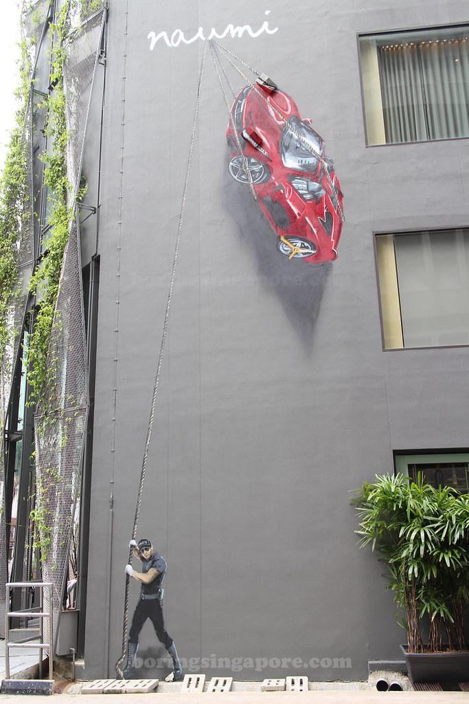 Mural at Naumi Hotel, Singapore