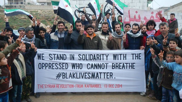 Syrian demonstrators #blacklivesmatter