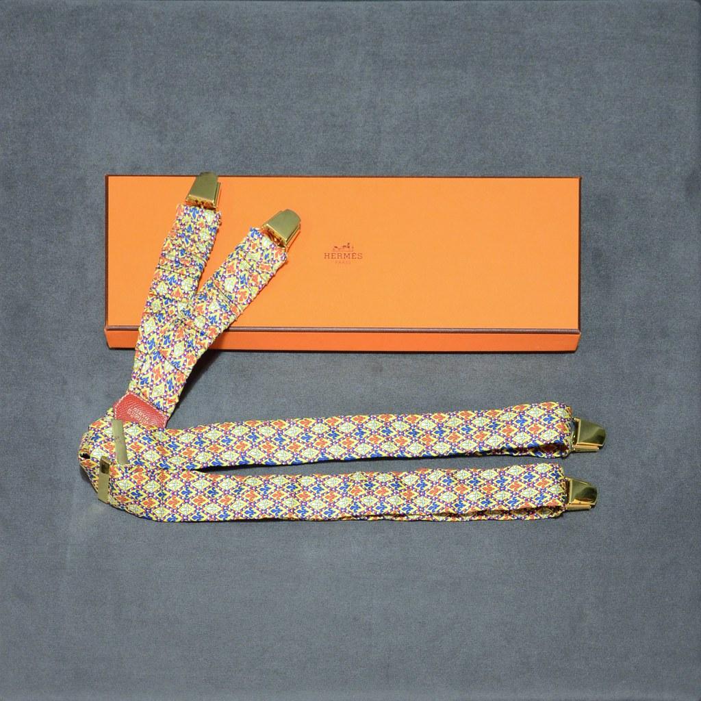 Hermès Silk Suspenders