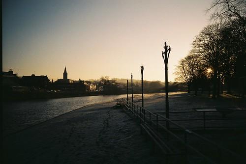 bridge film river dawn lomo lca december zenit dumfries 2014 c41 nith devorgilla agfaphoto agfaphotovistaplus200