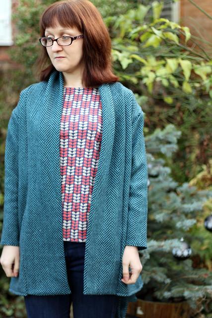 Blue Wool Blend Oslo Cardigan