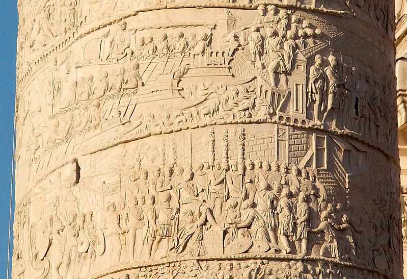 Episodes of Trajan's Dacian Wars on Trajan's Column