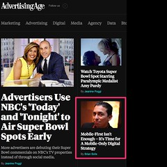 Oh wow! A story I wrote about new research from Jaimy Szymanski and yours truly is on the home page of Advertising Age! Here's a link to the story -> http://adage.com/article/digitalnext/time-a-mobile-digital-strategy/296727/  ‪#‎mobilecx‬ #mobile