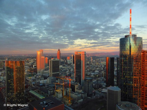 skyline sunrise frankfurt sonnenaufgang