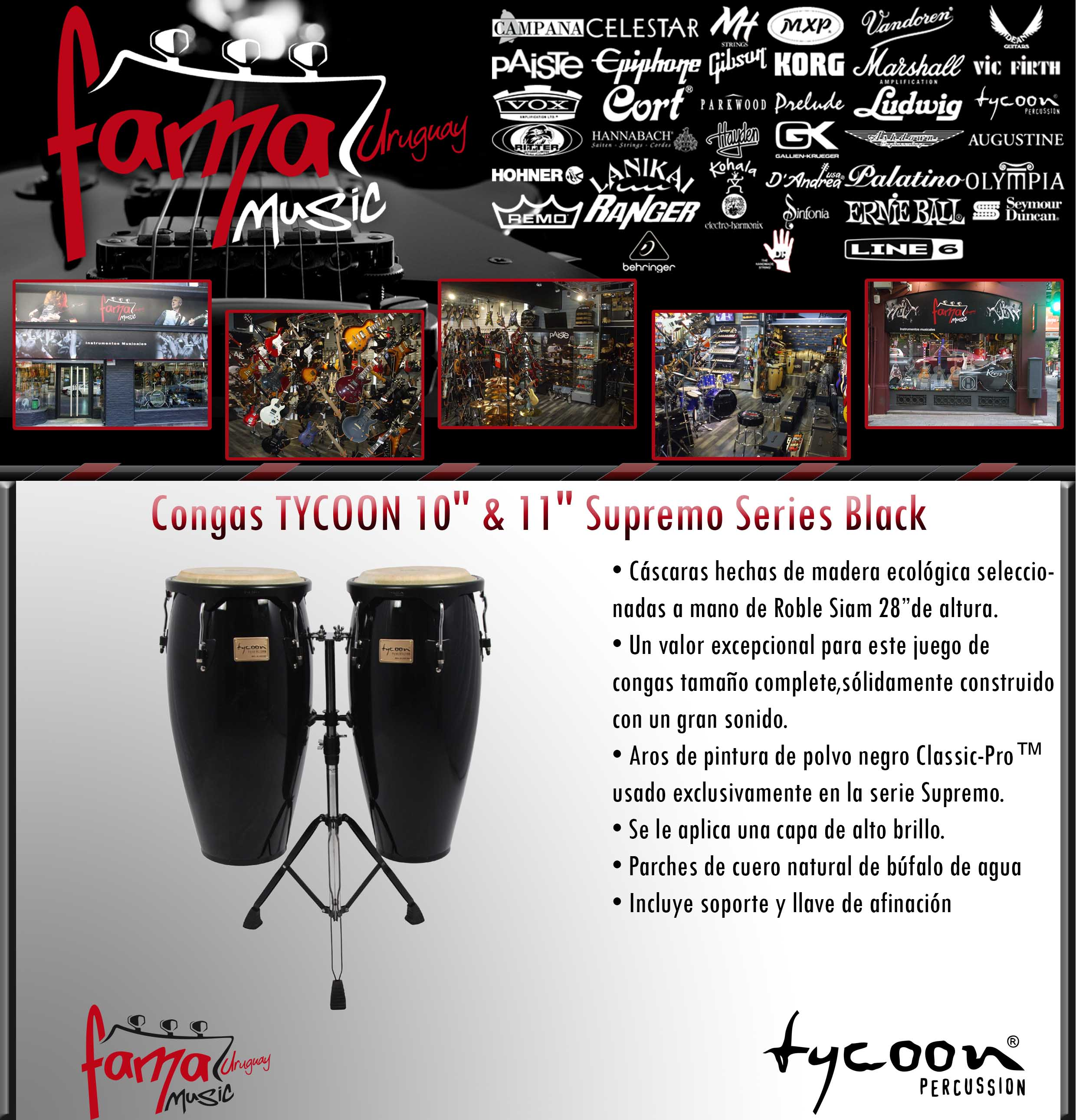 Congas TYCOON 1011 Supremo Series Black