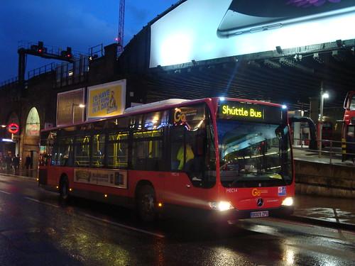 London General MEC14 for Route 21 Extra, London Bridge