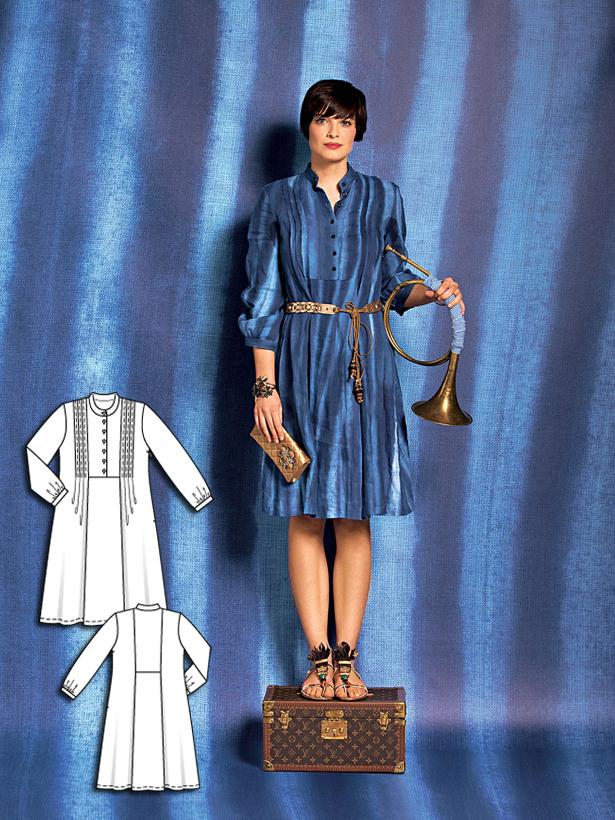 Women's dress sewing pattern 101 052010