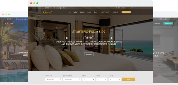 Resort v1.4 - A Luxury Hotel Joomla 3.x Template