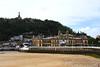 San Sebastian - Donostia. Ayuntamiento y Monte Urgull.
