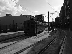 Going back in time to board a Tram.