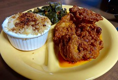 Nashvile fried chicken and sides at Wes Burger &#0…