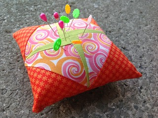 Tiny foundation piecing pincushions with free template