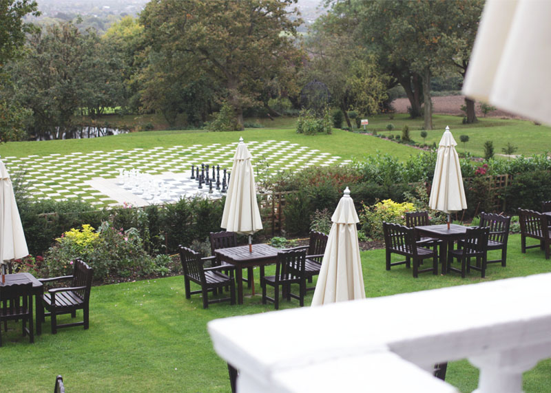 Gardens at The Manor hotel, Elstree, Bumpkin Betty