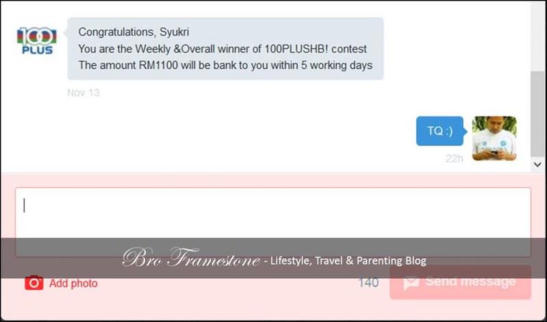 Tweet Menang Contest 100PLUSHB