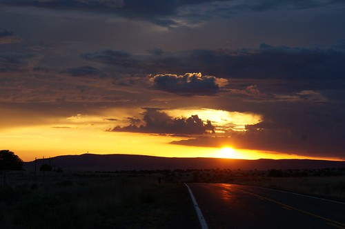 Sunset on 66, east of Seligman, Arizona