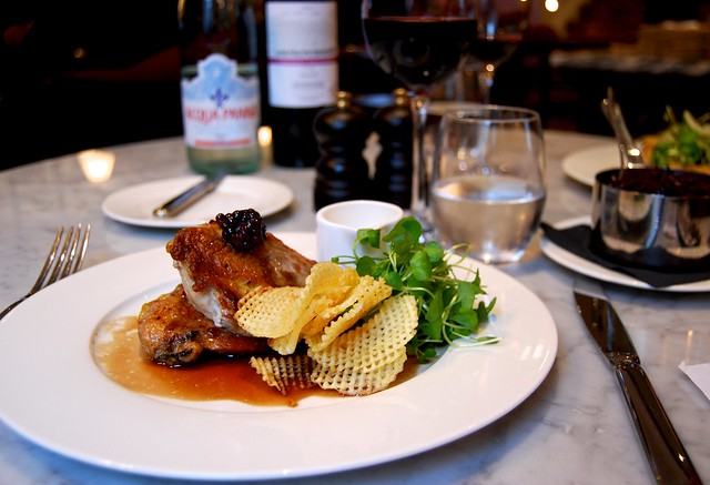 Roasted Yorkshire Moor Pheasant at 108 Brasserie, Marylebone