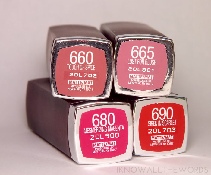 maybelline colour sensational creamy matte lipstick  (8)