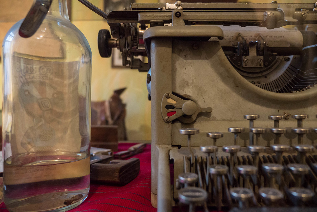 Na Bolom Museo, San Cristobal de las Casas - Frans Boloms Typewriter and alcohol.jpg