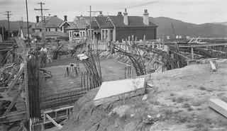 Stuart Street Extension - Construction of Overbridge 1952