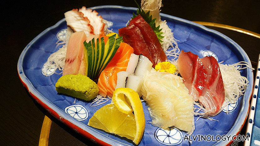 7 Sashimi Moriwase (Assorted Raw Fish, 7 types) at S$70++
