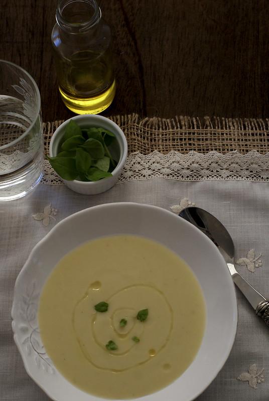 Crema de coliflor y calabacín