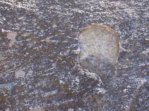 Child Profile in Rock