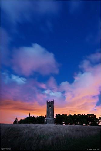 ireland tower night clouds maynooth kildare ptlens localhistory historicbuilding cartonestate