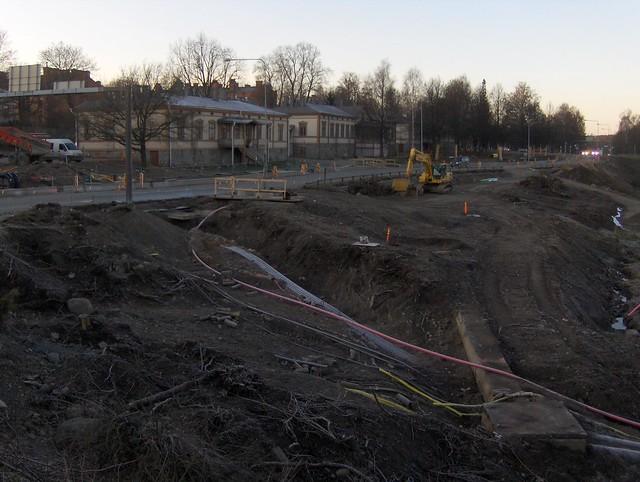 Hämeenlinnan moottoritiekate ja Goodman-kauppakeskus: Työmaatilanne 20.11.2011 - kuva 6